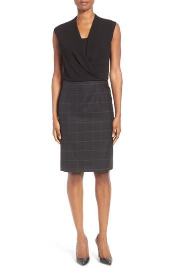 BOSS Daliena Mixed Media Dress (Regular & Petite)