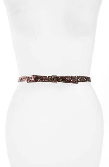 kate spade new york glitter belt with bow