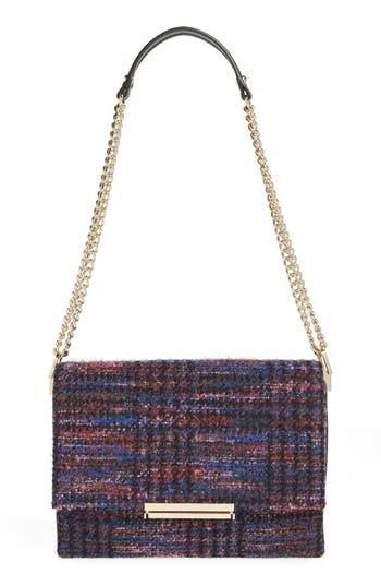 kate spade new york emerson place lenia tweed shoulder bag