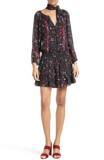 Joie Grover Floral Silk Minidress