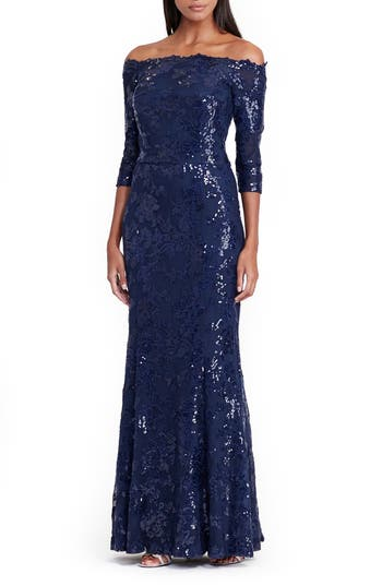 Lauren Ralph Lauren Mesh Mermaid Gown