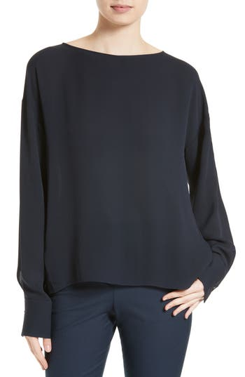 Theory Jarthstin Silk Georgette Top