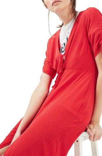 Topshop Spot Tea Dress