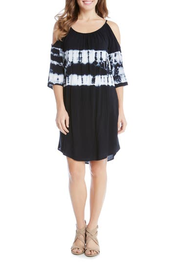 Karen Kane Cold Shoulder Tie-Dye Dress