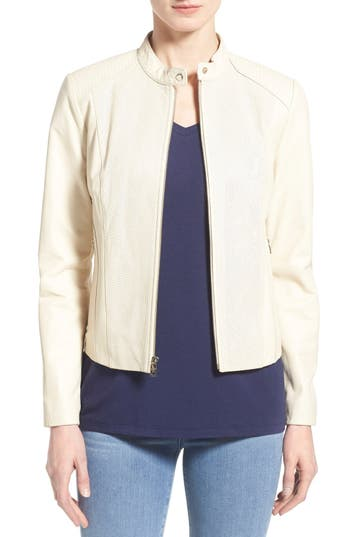 Cole Haan Perforated Leather Jacket