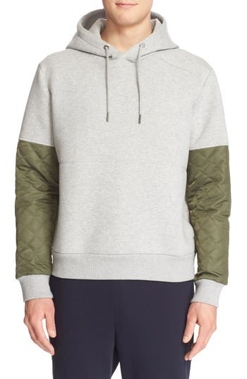 Moncler Colorblock Quilted Sleeve Hoodie