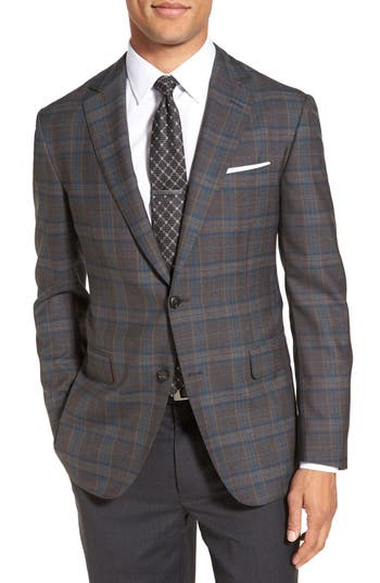 Pal Zileri Classic Fit Plaid Wool Sport Coat