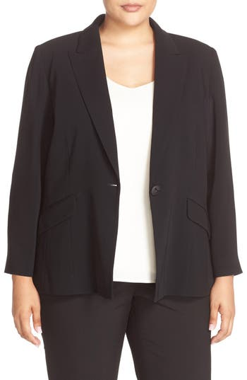 Louben One-Button Suit Jacket (Plus Size)