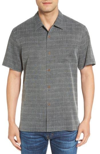 Tommy Bahama 'Geo-Rific Jacquard' Original Fit Silk Camp Shirt