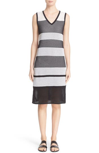 St. John Sport Collection Pointelle Double Knit Dress