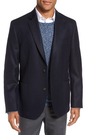 FLYNT Regular Fit Herringbone Wool & Cashmere Sport Coat (Regular and Big)