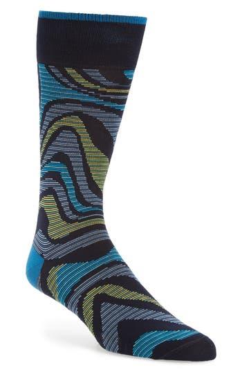 Bugatchi Alternating Wave Socks