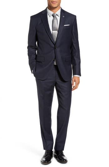 Ted Baker London Jay Trim Fit Stretch Plaid Wool Suit
