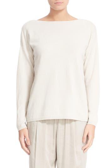 Lafayette 148 New York V-Back Cashmere Sweater