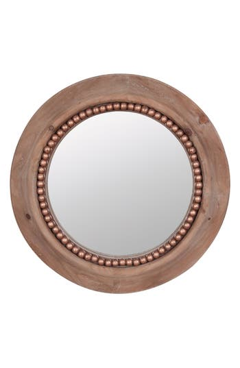 Foreside Round Beaded Wall Mirror
