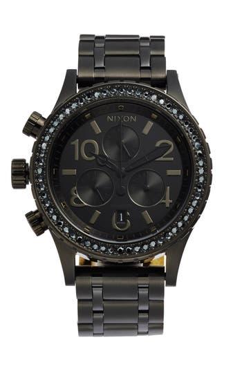 Nixon 'The 38-20' Crystal Bezel Chronograph Bracelet Watch, 38mm
