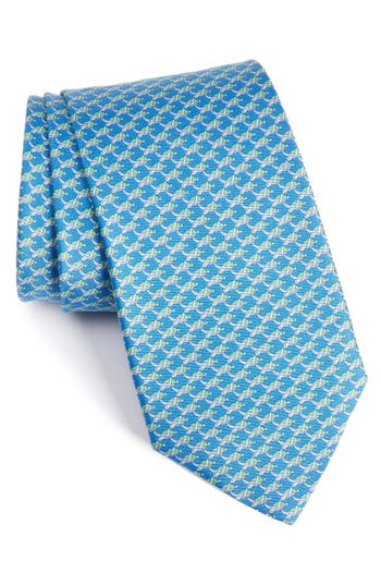 Salvatore Ferragamo Turtle Print Silk Tie