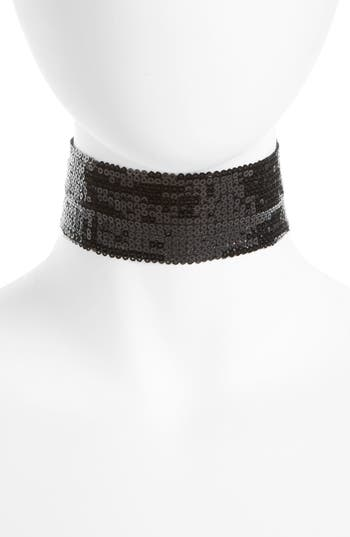 Topshop Thick Sequin Choker Necklace