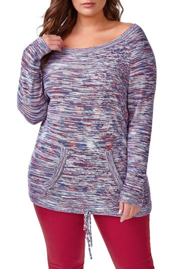 ADDITION ELLE LOVE AND LEGEND Kangaroo Pocket Sweater (Plus Size)