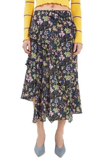 Topshop Unique Aster Silk Skirt