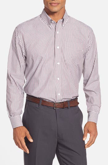 Cutter & Buck 'Epic Easy Care' Classic Fit Bengal Stripe Sport Shirt (Big & Tall)