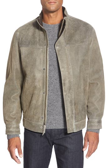 Missani Le Collezioni Washed Leather Jacket