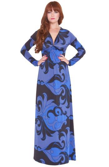 Olian'Katherine' Print Maternity Maxi Dress
