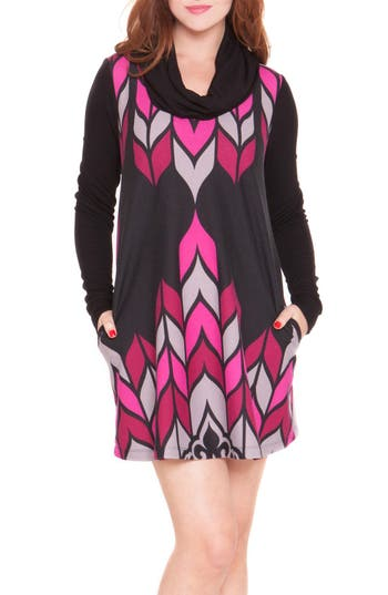 OlianCowl Neck Maternity Sweater Dress