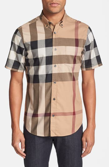 Burberry Brit 'Fred' Slim Fit Short Sleeve Sport Shirt