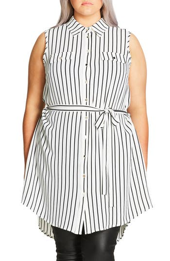 City Chic 'Lunch Date' Tunic (Plus Size)