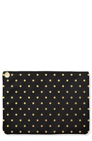Fringe Studio Gold Dot Faux Leather Zip Pouch