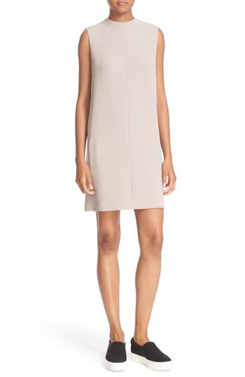 Vince Sleeveless Crepe Shift Dress