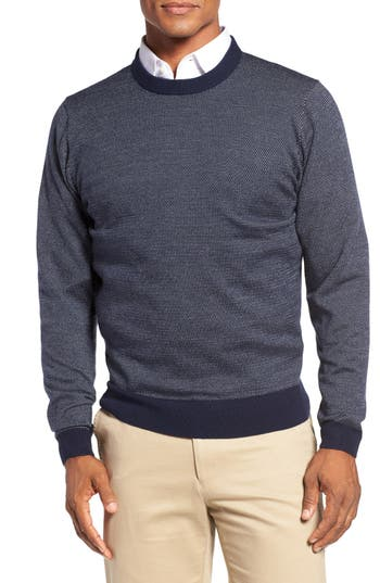 Bobby Jones Bird's Eye Merino Wool Sweater