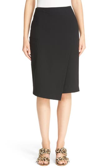 Tibi Asymmetrical Faux Wrap Skirt