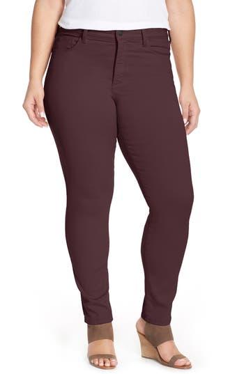 NYDJ 'Alina' Colored Stretch Skinny Jeans (Plus Size)