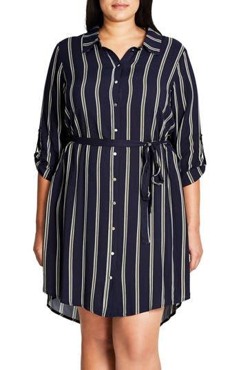 City Chic Vintage Stripe Tunic (Plus Size)