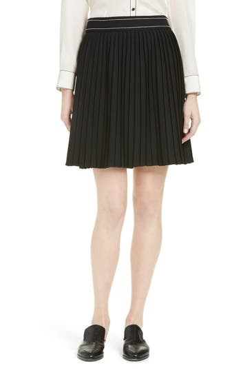 kate spade new york contrast stitch skirt