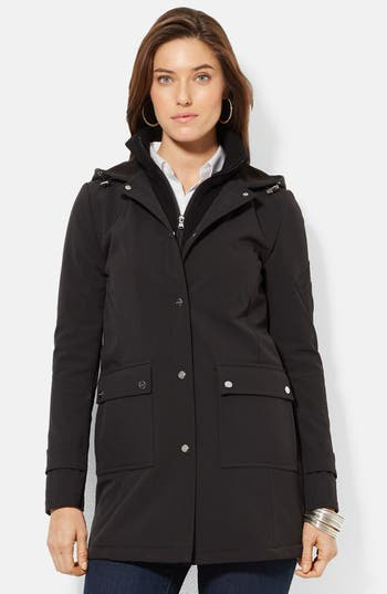 Lauren Ralph Lauren Front Insert Hooded Soft Shell Jacket (Online Only)