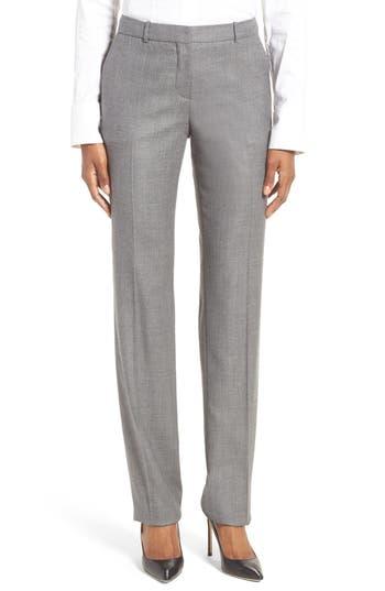 BOSS Tamea Wool Blend Straight Leg Trousers