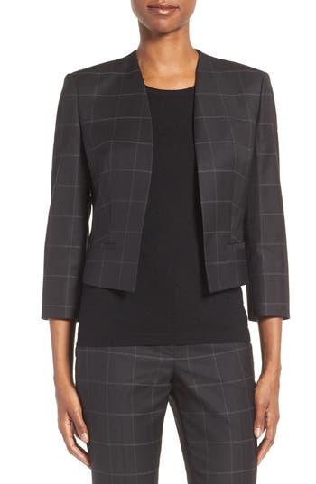 BOSS Jianne Crop Open Front Jacket (Regular & Petite)