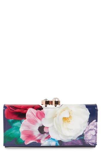 Ted Baker London Blushing Bouquet Leather Matinee Wallet