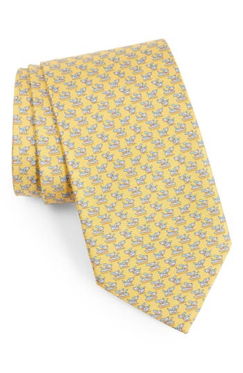 Salvatore Ferragamo Dog Print Silk Tie