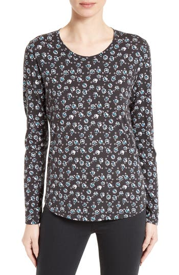 Rebecca Taylor Midnight Floral Jersey Top