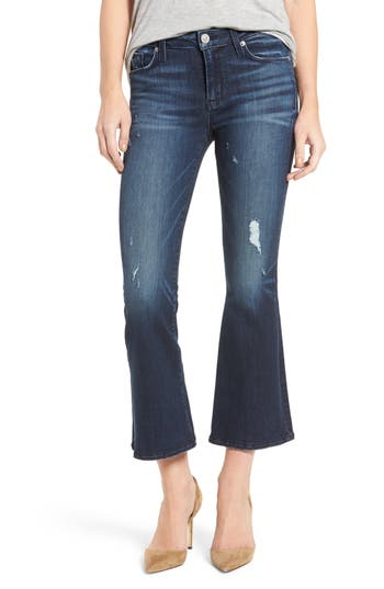 Hudson Jeans Mia Crop Flare Jeans (Electric Clover)