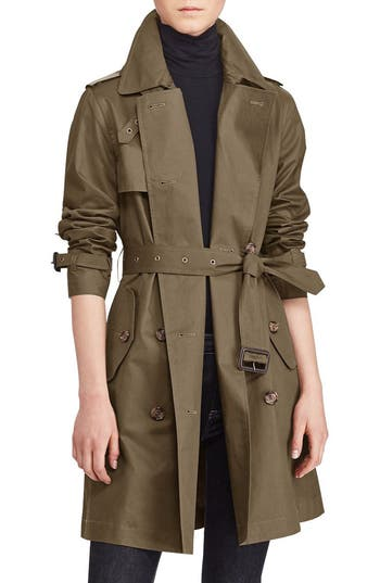 Lauren Ralph Lauren Double-Breasted Trench Coat