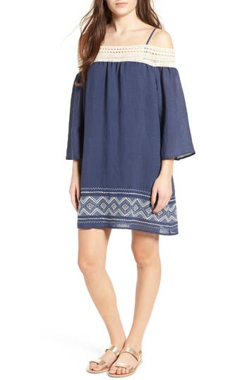 Trixxi Cold Shoulder Shift Dress