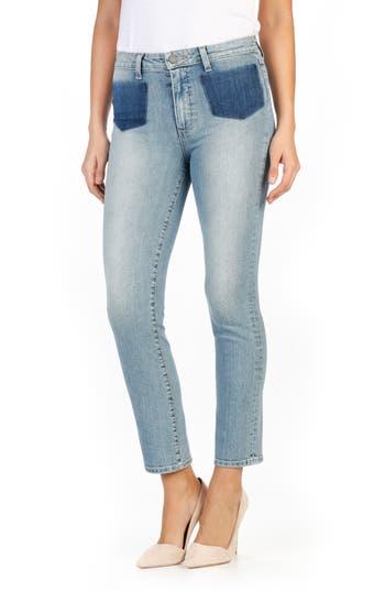 PAIGE Jacqueline Shadow Pocket High Waist Straight Leg Jeans (Bella)