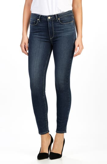 PAIGE Transcend - Hoxton High Waist Ankle Skinny Jeans (Channing)