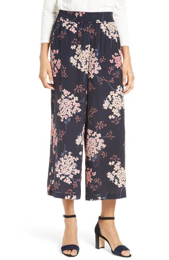 Rebecca Taylor Phlox Floral Print Silk Pants