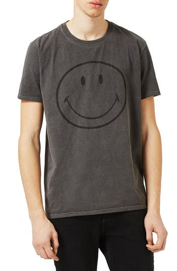 Topman Smiley Face Graphic T-Shirt